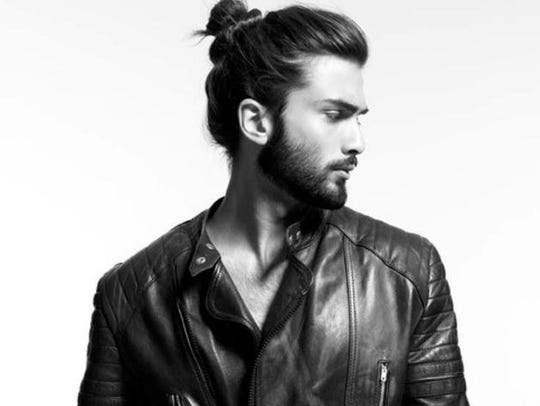 The man bun.