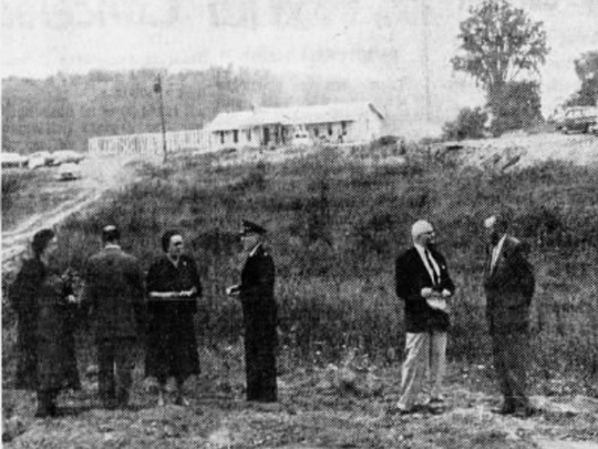 Oct. 2, 1960: A group stands at the Salvation Army camp where plans were in the works to expand it to accommodate more children.