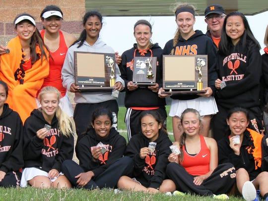 The Northville girls tennis team won their sixth straight