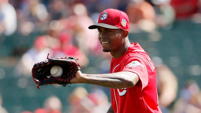 Reds right-hander Raisel Iglesias went two innings in his second start of the spring on Saturday.