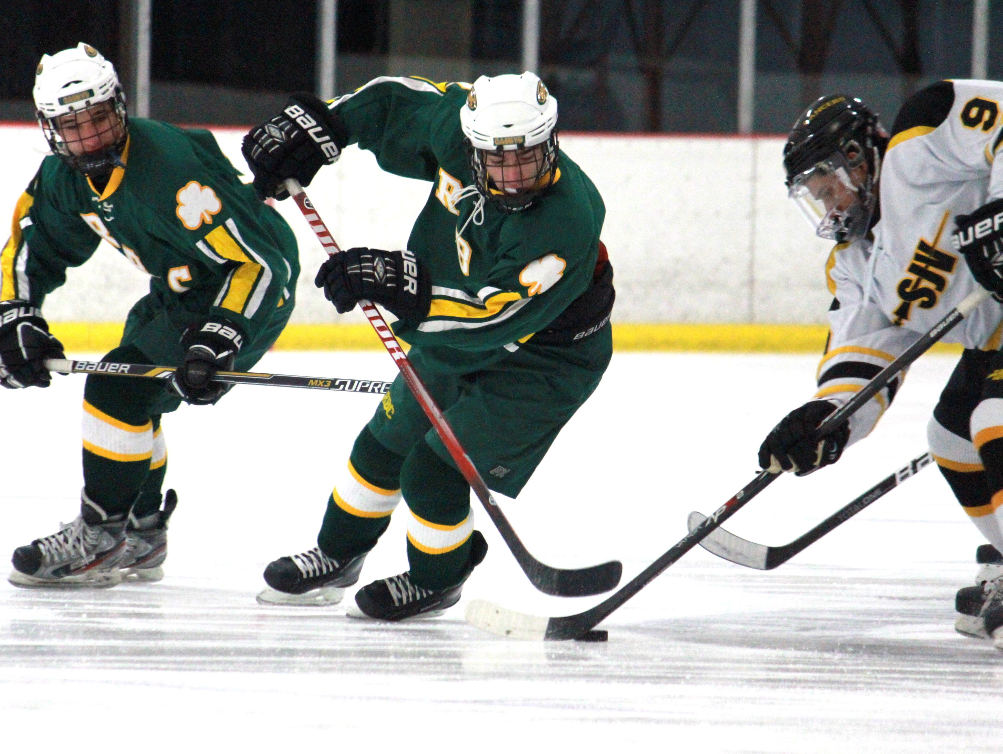 Red Bank Catholic skates against St. John Vianney in 2014-15.