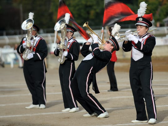 The Fairfield Union High School marching band performed