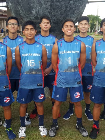 Guam Boys Junior National Team members competing at