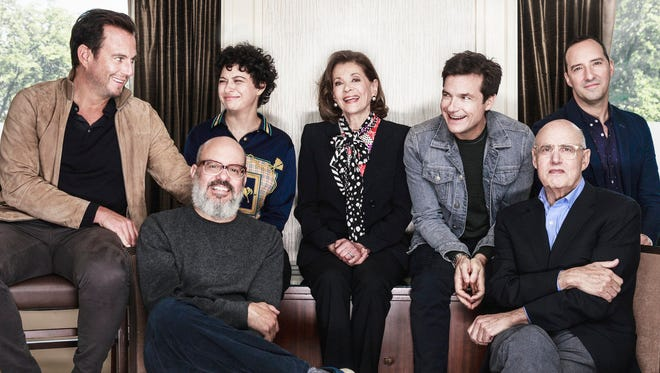 "The stars of ""Arrested Development,"" streaming on Netflix Tuesday: Will Arnett, left, David Cross, Alia Shawkat, Jessica Walter, Jason Bateman, Jeffrey Tambor and Tony Hale."