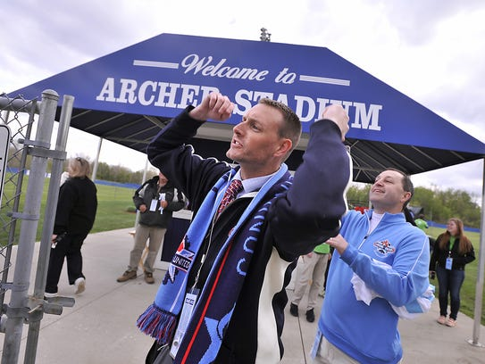 The Lansing United and owner Jeremy Sampson enjoyed