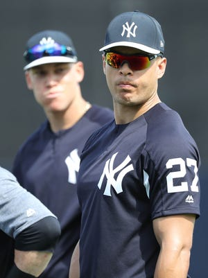 Yankees sluggers Giancarlo Stanton and Aaron Judge prepare for the 2018 season.