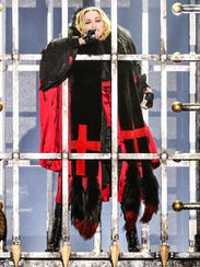 Madonna performs at the opening night of her Rebel