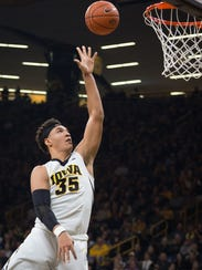 Iowa forward Cordell Pemsl has been a pleasant surprise