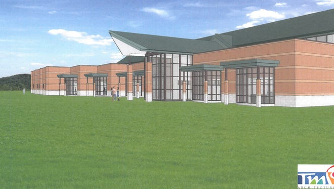 A rendering of the planned addition to Westland's Faust Library.