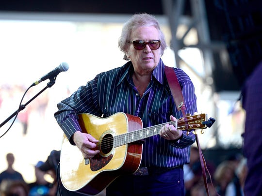'American Pie' singer Don McLean performs in 2014 at the Empire Polo Club in Indio, California.