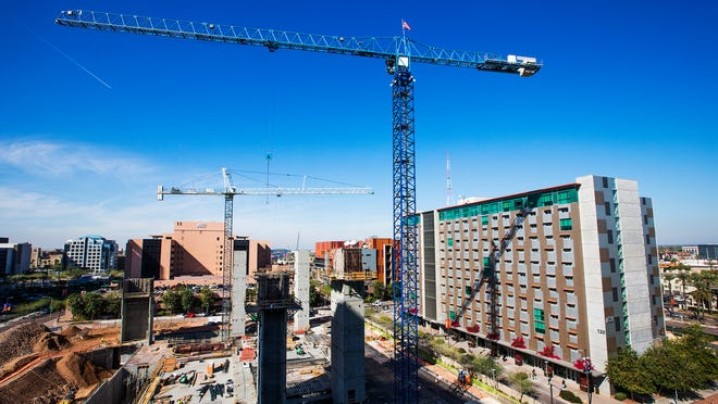 The ASU Sandra Day O'Connor College of Law under construction in downtown Phoenix.