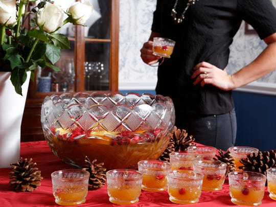 Christmas punch is an easy, elegant addition to holiday parties.