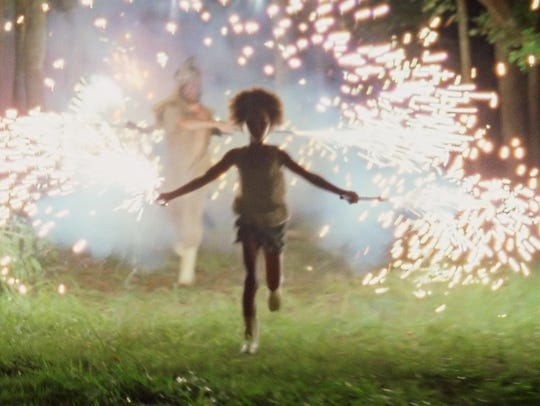 """Quvenzhané Wallis, as Hushpuppy, in a scene from """"Beasts of the Southern Wild,"""" a film with a stark reminder of the lower socio-economic conditions still existing in some areas of the South."""