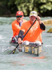 Wayne Thorp (front of canoe) and Wes Wyatt competed