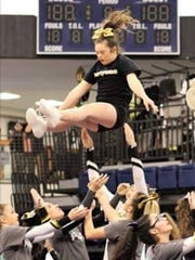 Alaina Ladaro is a flyer with World Cup, a competitive cheerleading team