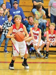 FMS sixth grade starter Thomas Lankford looks for a