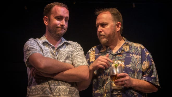 "Mike Coghlan and Jeff Messer in The Magnetic Theatre's world premiere of Travis Lowe's ""Six Knots."""