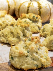 These cheesy biscuits are made with a gluten-free mix.