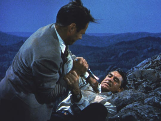 """""""North by Northwest"""": Cary Grant visits Mount Rushmore"""
