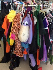 A rack of used store-bought costumes is also available.