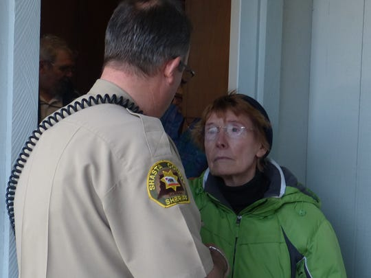 Eighty-year-old Nancy Holland tried to prevent sheriff's