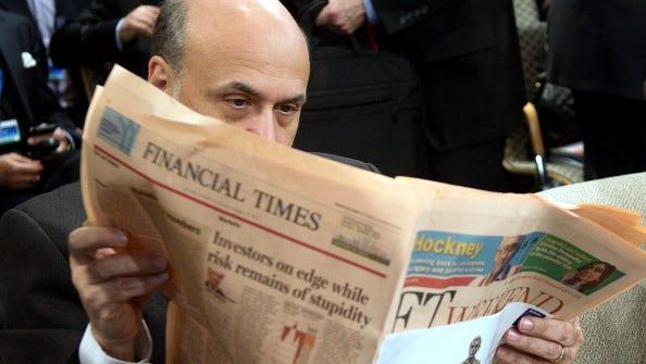 Fed Chairman Ben Bernanke on Oct. 12 during a World Bank-International Monetary Fund meeting in Washington.