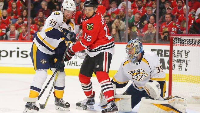 The Predators lost four of five to the Blackhawks this season, including two games in Chicago.