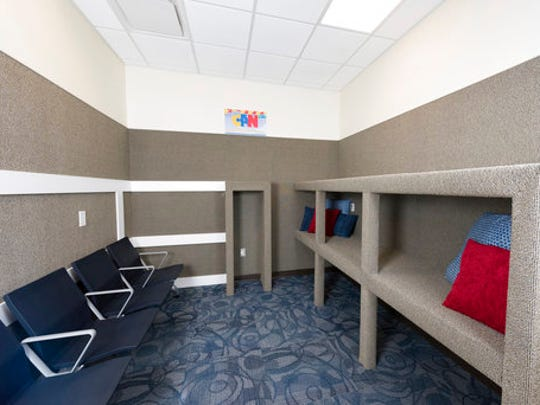 This undated photo shows the Myrtle Beach Airport Quiet Room in South Carolina. The area is designed for use as a calm space for travelers on the autism spectrum, especially children flying with their families who can benefit from a quiet space away from the usual hustle and bustle of most airports. It's one of several quiet rooms at airports in the U.S. and overseas.