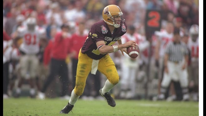 Quarterback Jake Plummer came within seconds of leading Arizona State to a win over Ohio State in the 1997 Rose Bowl.