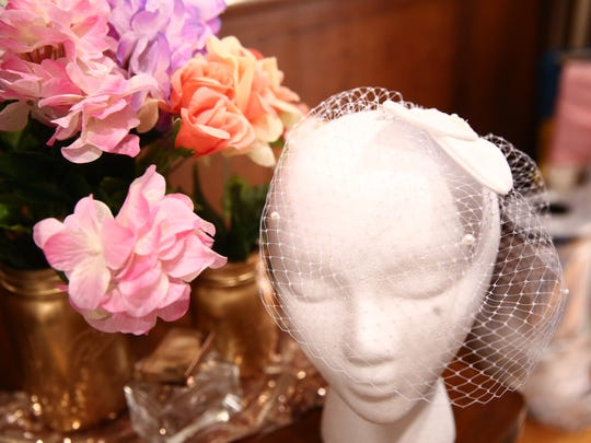 A veil created by Jasmine Terry-Ankobil, owner of Laidiecloth