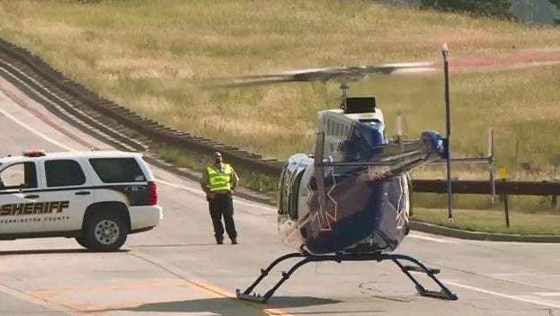 A helicopter was called to the scene of Pactola Reservoir for a drowning Monday.
