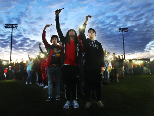 Students at South Fort Myers High School held a vigil