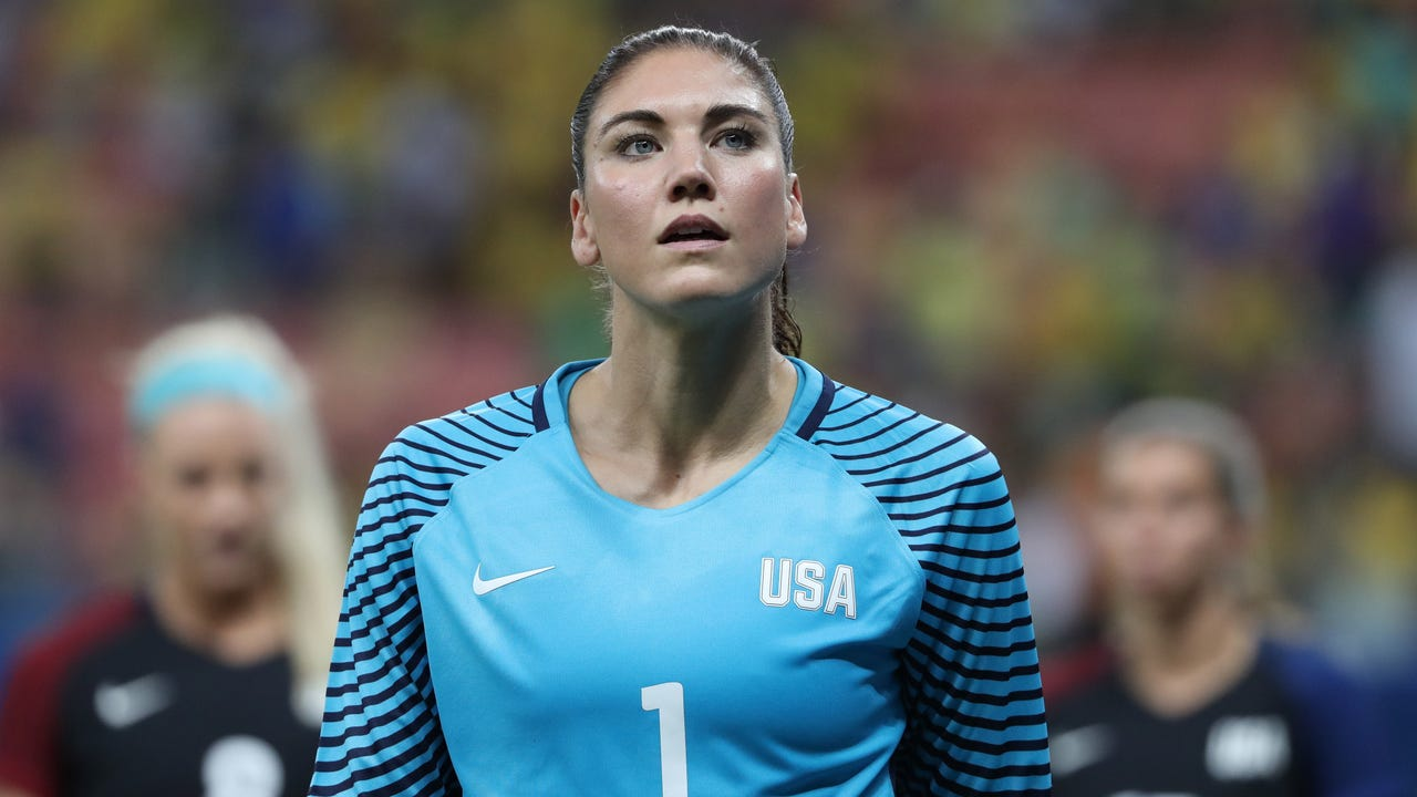 U.S. Soccer suspended the longtime for six months for her comments about the Swedish national team at the Olympics.