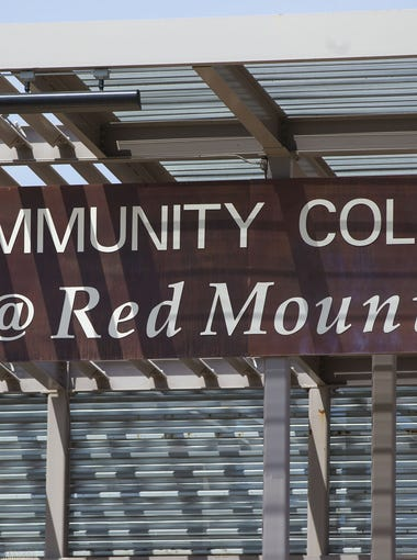 Marquee at Mesa Community College Red Mountain campus April 6, 2016. MCC is dealing with declining enrollment and budget constraints.