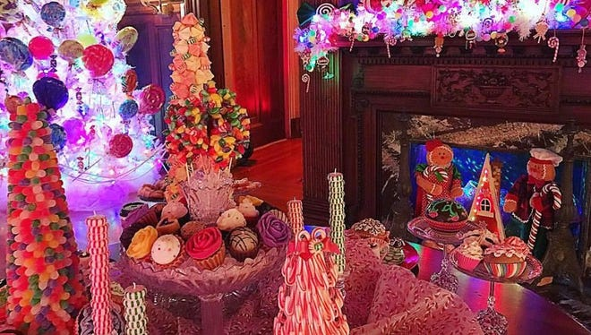 Home for the Holidays at Roberson Museum and Science Center features a variety of displays, including this one imagining a land of candy.