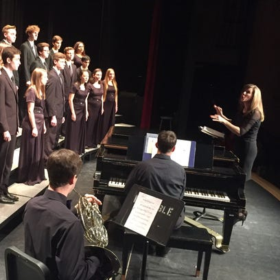 Students from Colchester High School perform Saturday