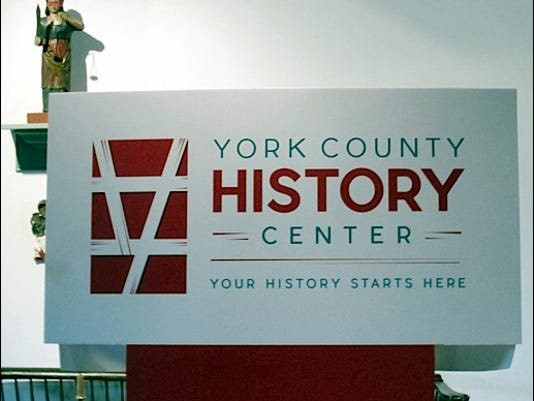 Unveiled York County History Center Brand within the Colonial Court House (Photo by S. H. Smith on June 16, 2016)