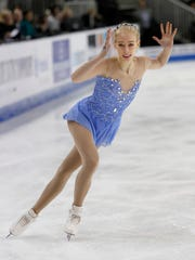 Bradie Tennell performs during the women's free skate