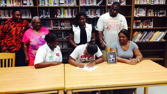 Reynolds senior Tisha Marion has signed to play basketball for Catawba Valley Community College.