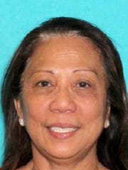This undated photo provided by the Las Vegas Metropolitan Police Department shows Marilou Danley. Danley, 62, returned to the United States from the Philippines on Tuesday night, Oct. 3, 2017.