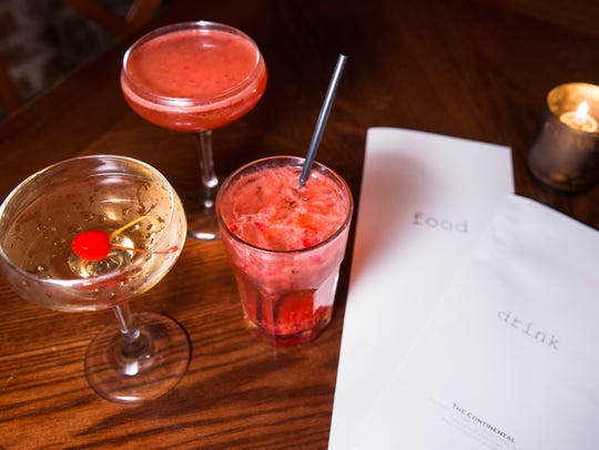 A variety of cocktails at the Continental.