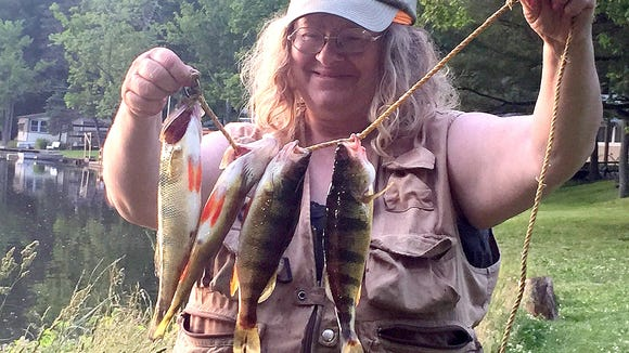 Lake Ondawa in Pennsylvania is Carol's new favorite fishing spot.