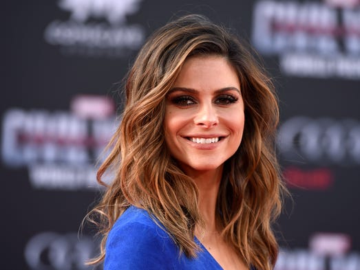 Maria Menounos arrives at the Los Angeles premiere