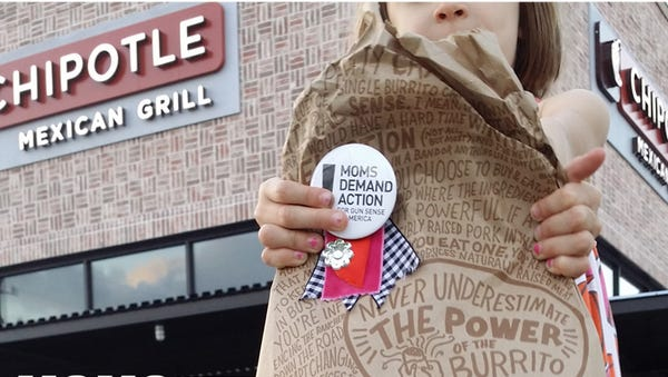A Twitter campaign pushed Chipotle to ban guns from its restaurants.