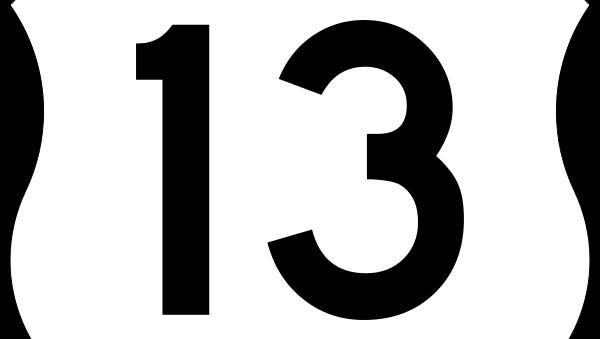 U.S. 13 sign