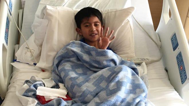 OSDI Ramirez, 10, llego a El Paso hace una semana.
