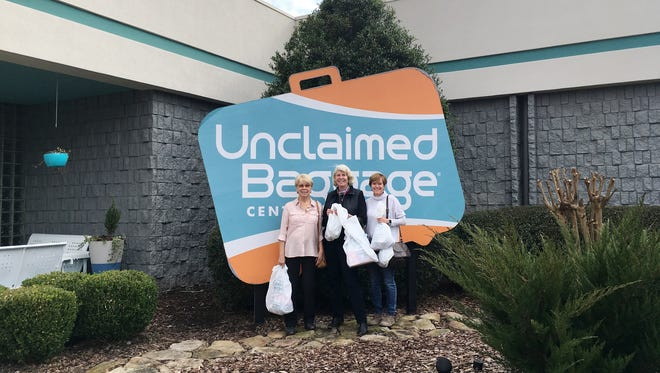 Ms. Cheap (aka Mary Hance) and her shopping pals Jo Schofield (left) and Lynn McDonald (right) enjoyed a shopping day at the  Unclaimed Baggage Center.