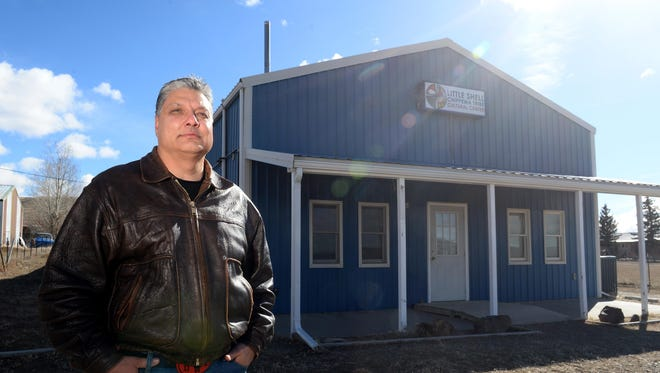 Richard Parenteau, councilman for the Little Shell Chippewa Tribe, stands at the tribal cultural center. The tribe is excited to be bringing back the Trade Dance, which has not happened at Hill 57 since the mid '70s.