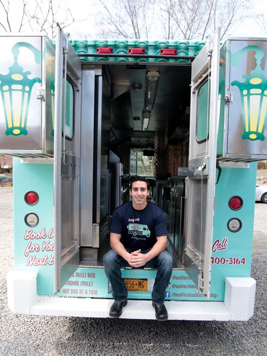 Gene-Christian Baca, co-owner of Walter's Hot Dogs in Mamaroneck
