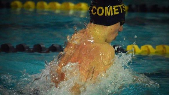 Hackensack's Matt Tieleman set the school record in